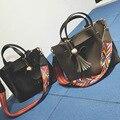2016 diseñador de la Marca bolsas femininas Mujeres bolso de las señoras de Cuero Patrón bolso de Hombro Bolsa de Mano Femenina Bolsa de Cocodrilo Bolso de 2 en 1