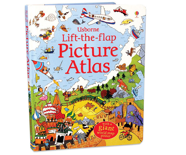 Educational Lift the Flap Picture Atlas for Kids