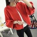 53 осень новых крупных Корейских женщин рукавом свободные платья свитер кардиган пальто F1326
