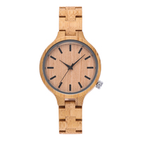 Fashion Natural Wood Bamboo Wrist Watch Simple Design Dial Casual Men Women Analog Quartz Watches Best Gifts relogio