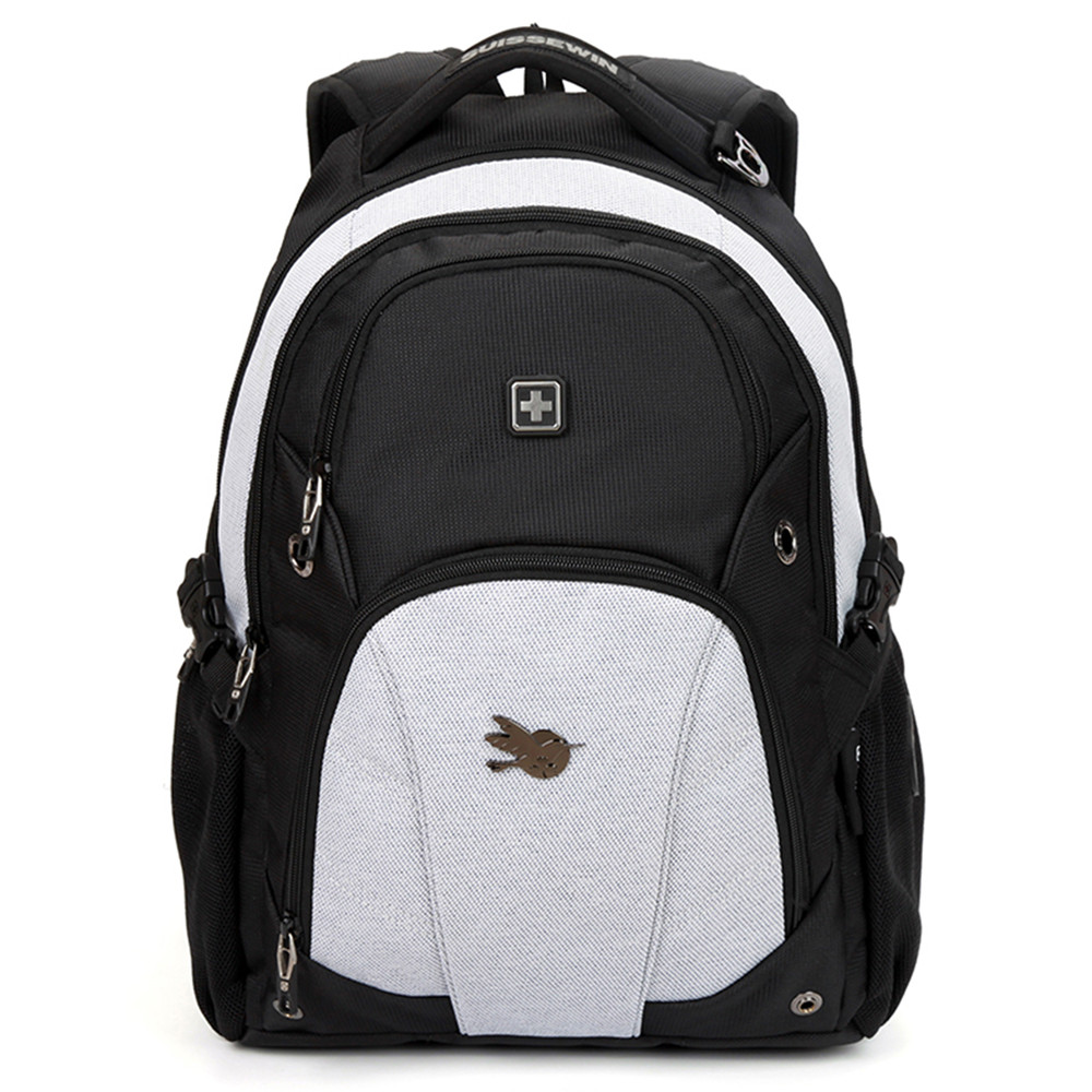 Laptop bags korea - Aliexpress Com Buy Suissewin Fashion Korea Style Men Women Backpack Brand New Design Black White Bag Pack For Laptop Notebook 14 15 From Reliable