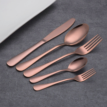 HOMQUEN 30 Pieces Black Flatware Set, 18/0 Stainless Steel Cutlery Set, Service for 6 People, Rainbow Dining Cutlery Set