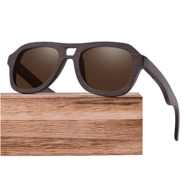 Vintage Bamboo Sunglasses For Men and Women,Polarized Lens Wood Sun Glass UV400