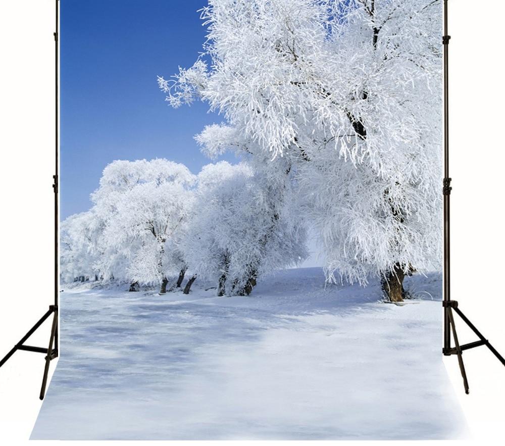 300x600cm/10x20ft vinyl christmas photo background,camera fotografica,Nature scenic snow tree backdrop photography 1830