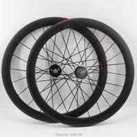 1pair New 700C 50mm tubular rims Track fixed gear bicycle matte UD full carbon fibre bike wheelset carbon wheels parts Free ship