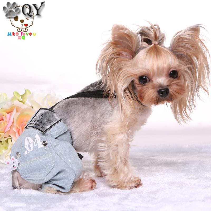 Pocket Denim Jean Male Dog Pants Dog Jumpsuits & Rompers ...