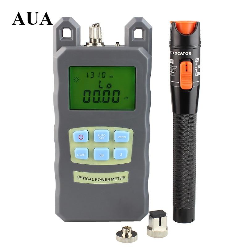 AUA Handheld fiber Optical Power Meter +10mW red light source, Visual Fault Locator Fiber Optic Cable Tester