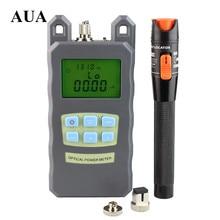 AUA Handheld fiber Optical Power Meter 10mW red light source Visual Fault Locator Fiber Optic Cable