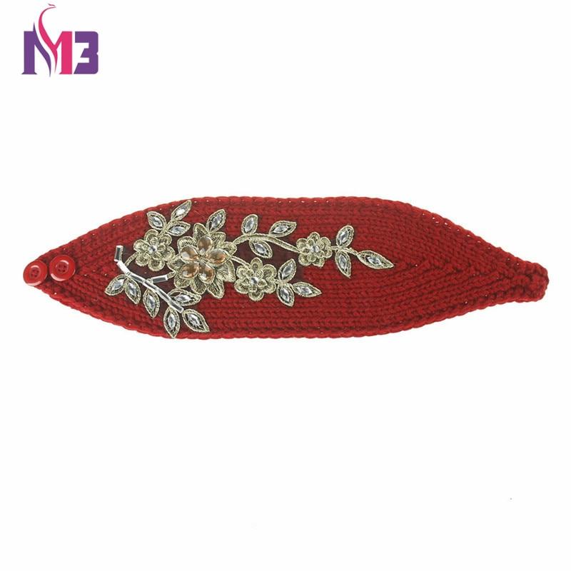 Amplia tejer lana diadema invierno del oído caliente Crochet ...