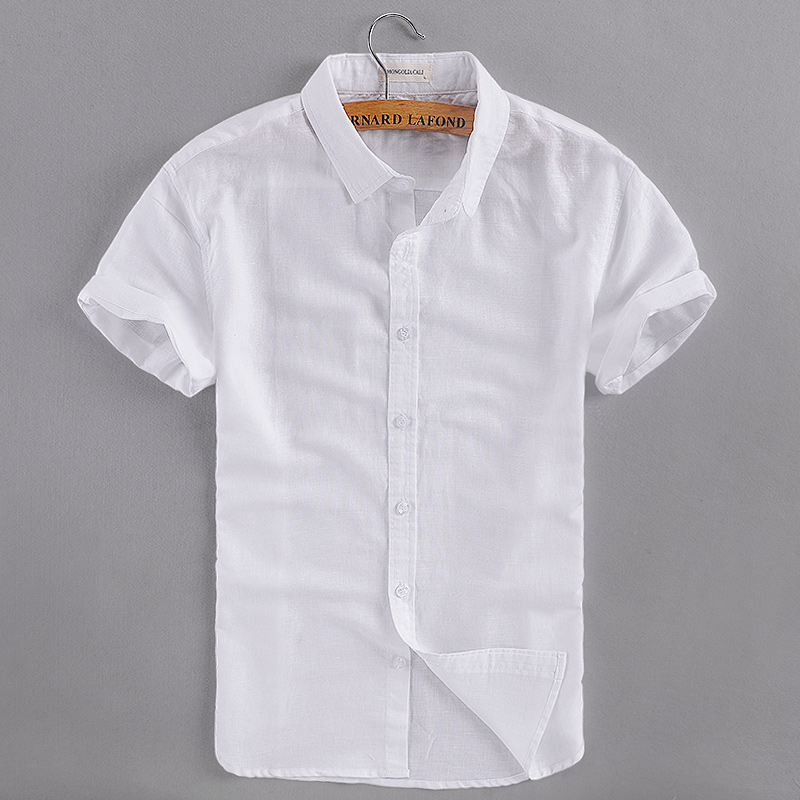 Linen White Shirts Men Promotion-Shop for Promotional Linen White ...