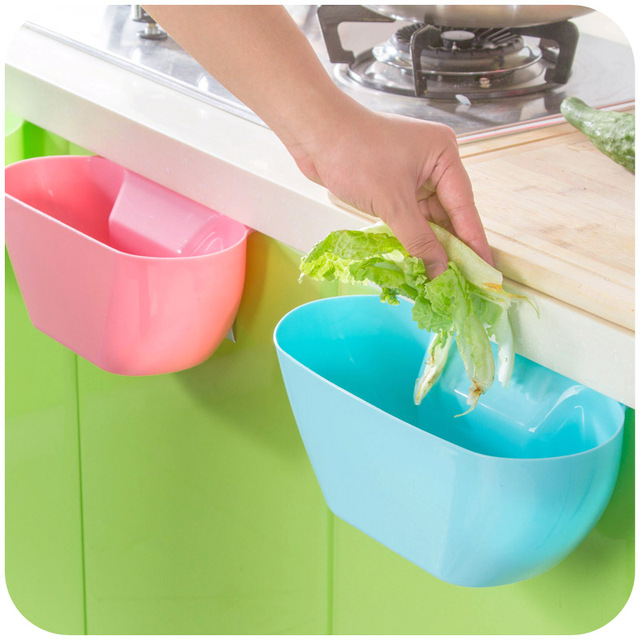 Kitchen Small Trash Cans Garbage Bins Hanging Can Storage Cabinet
