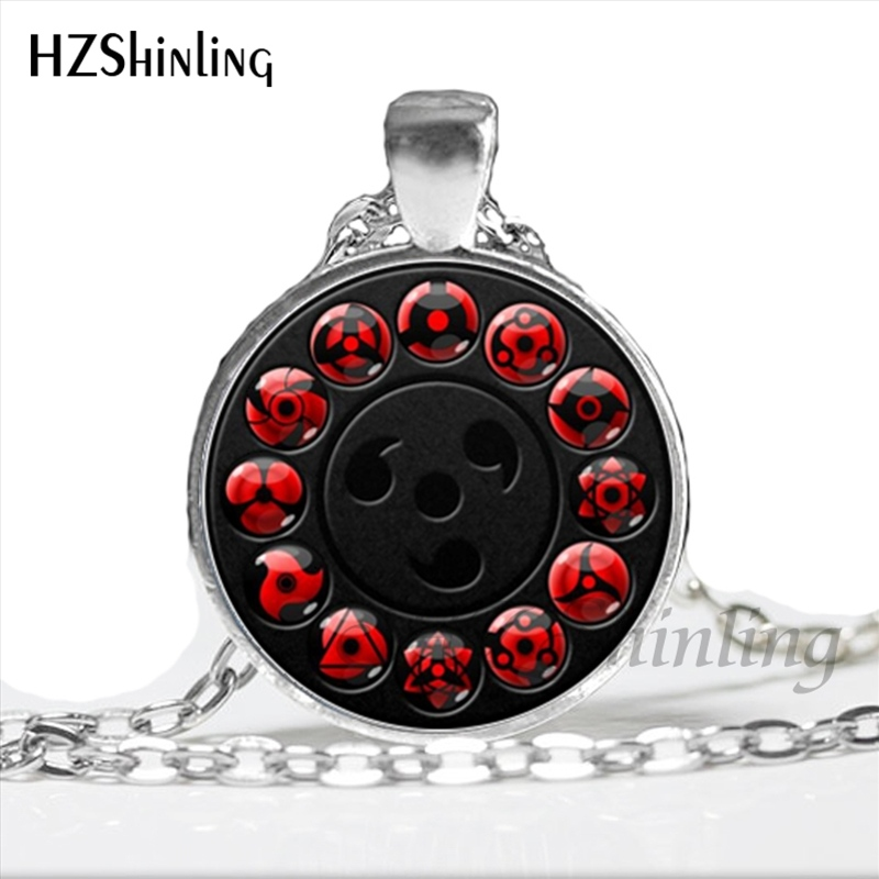 Naruto Uchiha Sharingan Eye Chain Necklace