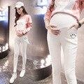 Plus Size Cintura Elástica 100% Algodão Calças de Brim de Maternidade Para A Gravidez Roupas Para Mulheres Grávidas Outono Inverno Legging