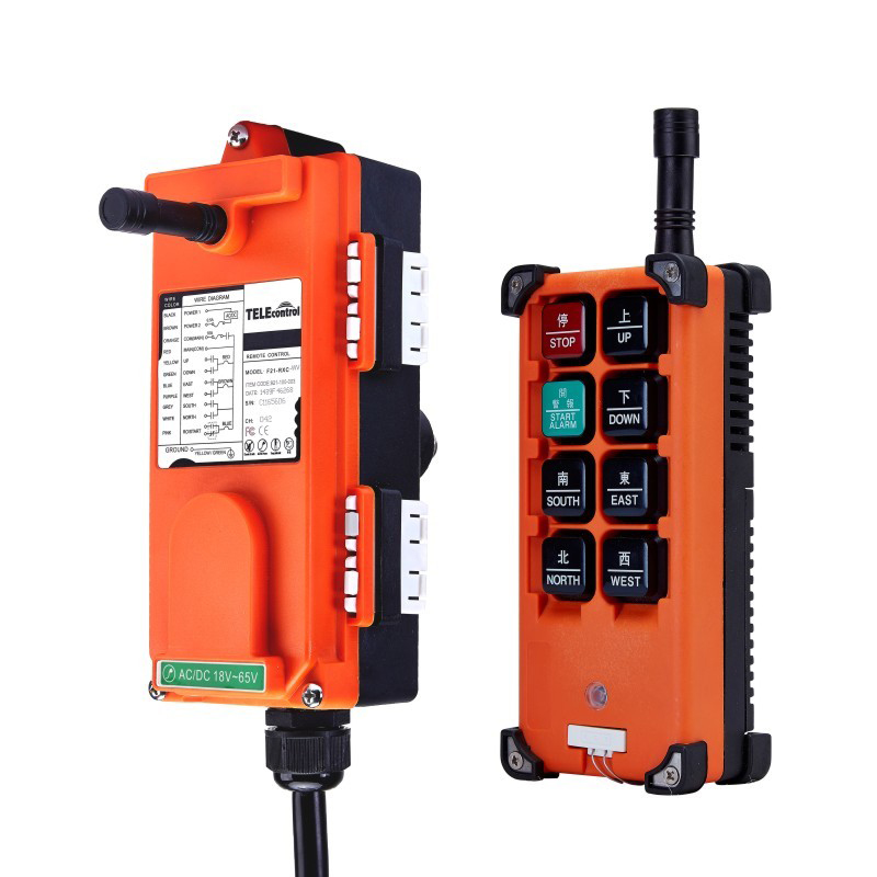 AC65-440V Industrial remote control Wireless hoist crane remote control Switch 1 receiver and 1 transmitter,push button switch nice uting ce fcc industrial wireless radio double speed f21 4d remote control 1 transmitter 1 receiver for crane