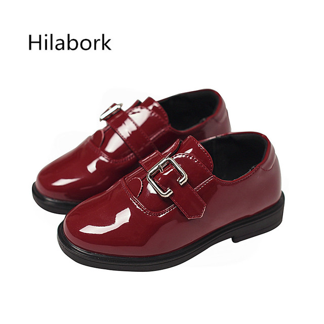 2017 spring new children shoes leather girl light leather shoes boys British wind casual shoes fashion black leather shoes