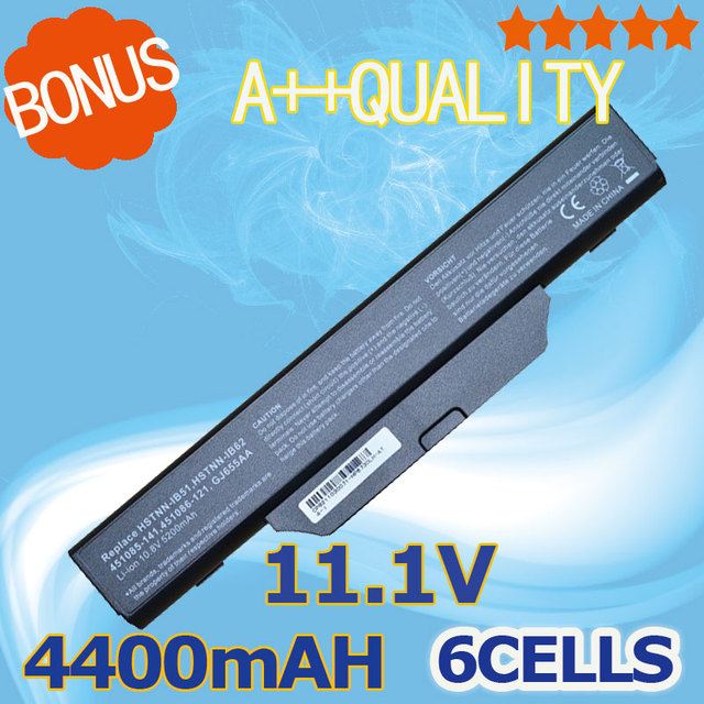 4400mAH Battery for HP 550 For COMPAQ 510 511 610 615 Business Notebook 6720s 6730s 6735s 6820s 6830s 451085-141 451086-121