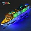 Boat Toys Cruise Ship Model  Automatic Ocean Liner with Musical Flashing Light  Kids Electric Educational toy for Children Gifts