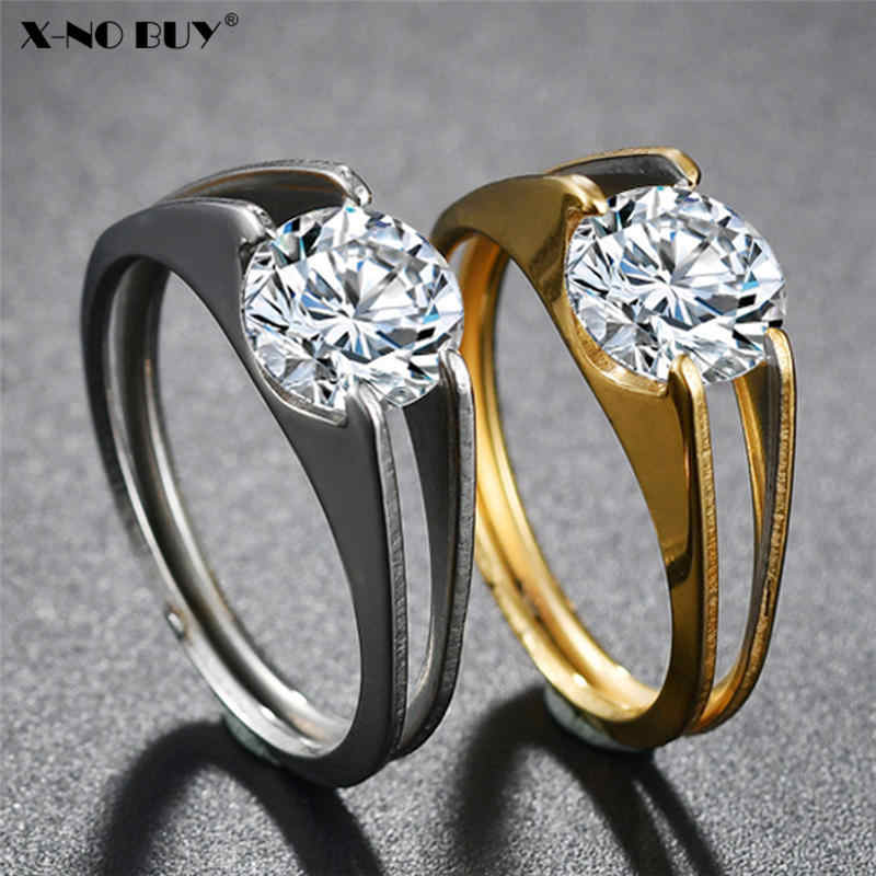 New Gold Silver Stainless Steel Easy Pull Ring Ring for Women Wedding Ring CZ Zircon Ring For Female Party Engagement Jewelry