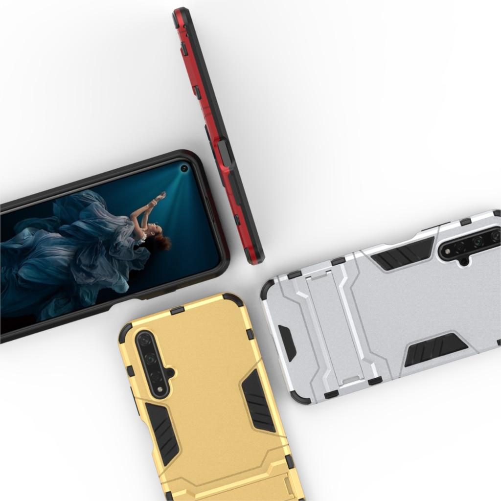 Резиновая бронированная подставка держатель Honor 20 чехол жесткий чехол для huawei P20 Lite 2019 Nova 5 5i Honor 20 Pro чехлы для смартфонов Fundas