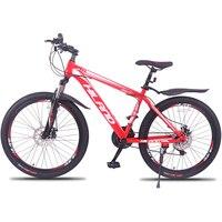 26 дюймов горный велосипед стальная рама для велосипеда с Shimano Break и Shifter черный и красный для 150 180 см высота