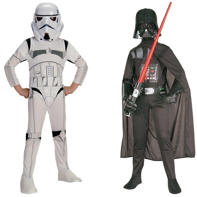 Deluxe Child Movie Star Wars The Force Awakens Villain Character Darth Vader Halloween Cosplay Costumes