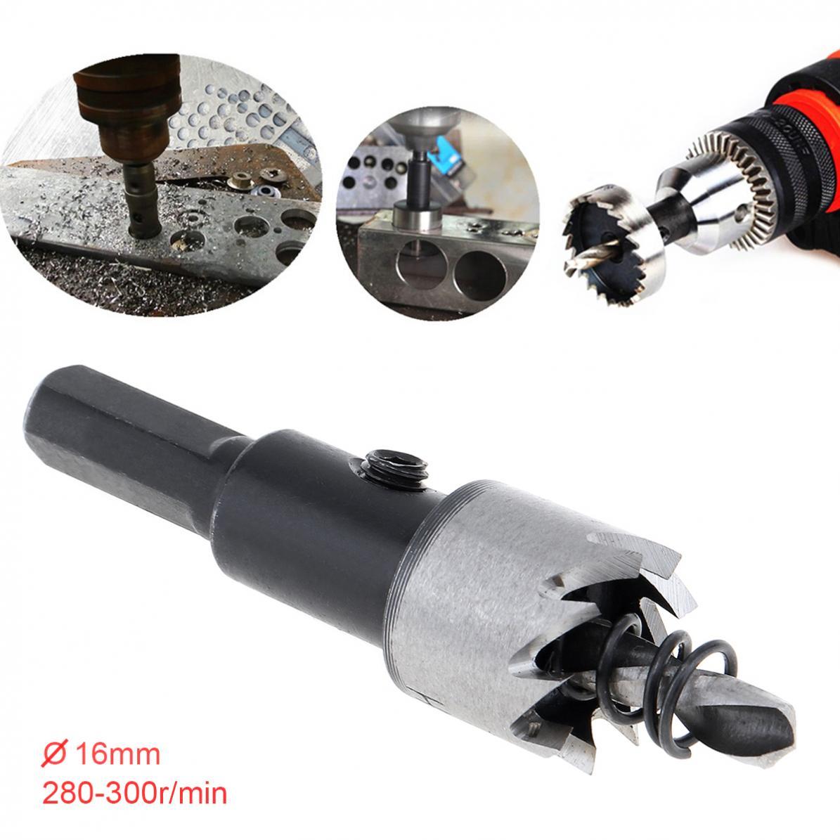 16mm HSS Drill Bit Hole Saw Twist Drill Bits Cutter Power Tool Metal Holes Drilling Kit Carpentry Tools For Wood Steel Iron