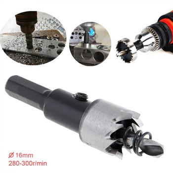 цена на 16mm HSS Drill Bit Hole Saw Twist Drill Bits Cutter Power Tool Metal Holes Drilling Kit Carpentry Tools for Wood Steel Iron