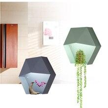 2018 New arrival nordic modern simple Foyer wall lamps Restaurant Study Macaron mounted lights Hexagon lighting fixture