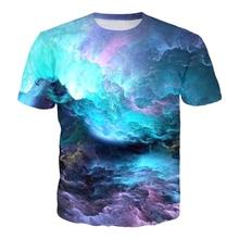 Summer Space Nebula Galaxy T-Shirt Men /Womens Tshirt Tumblr T Shirt Tops Casual Outfits Harajuku 3D Fashion Clothing