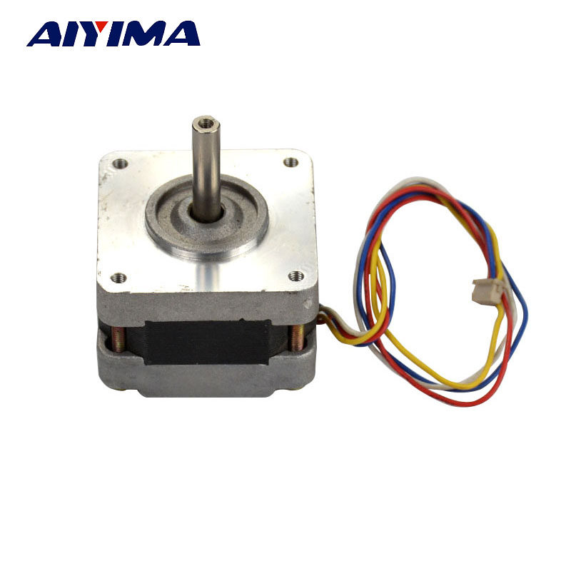 AIYIMA 1pcs Stepper Motors 1A5.1V39 2 Phase 4 Wire 1.8 Degree Two Phase Four Wire Micro Step Motor Second Hand Moteur 9892 50x 12 8mm microscope w 2 led white 1 led purple light grey black