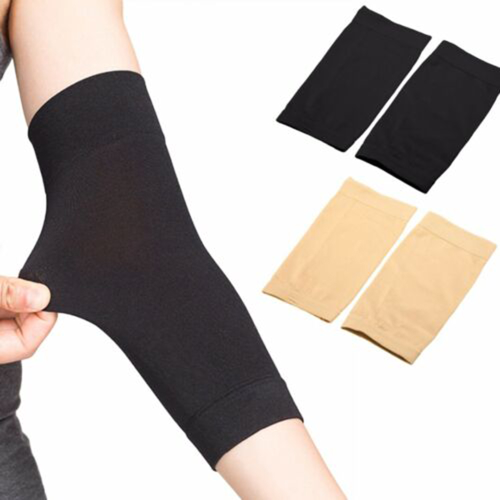1 Pair Forearm Tattoo Cover Up Compression Sleeves Band Concealer Support Black/Skin Color