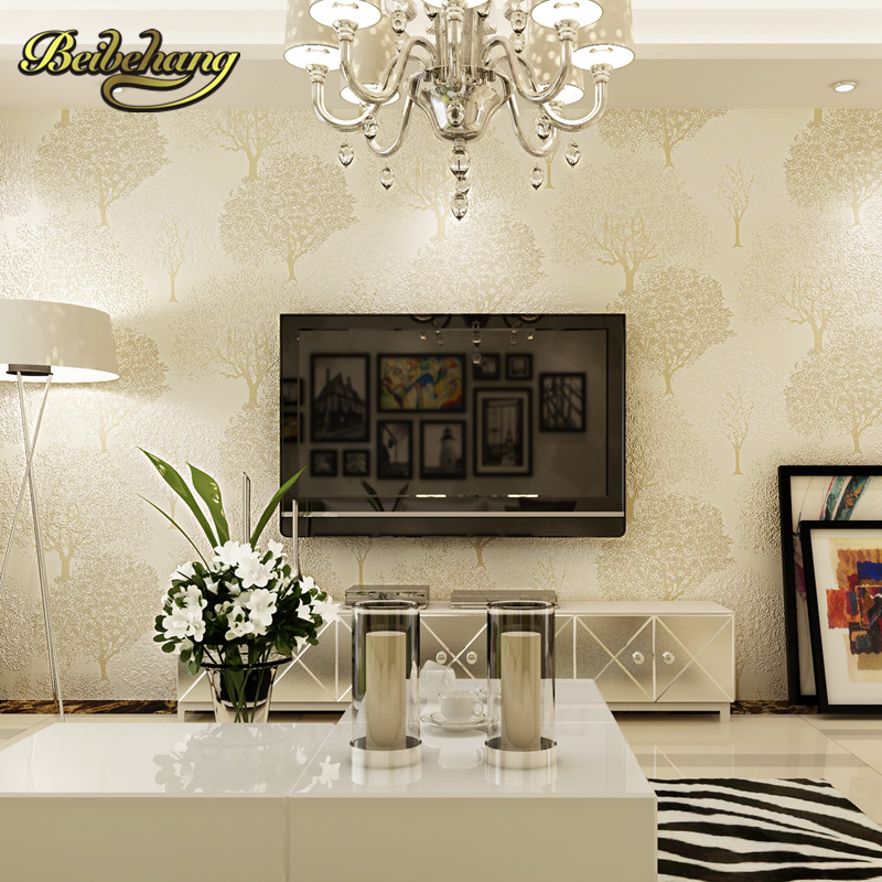 ФОТО beibehang wall paper Puna 3D stereoscopic pastoral wallpaper Nordic saplings cozy living room TV backdrop wallpaper bedroom