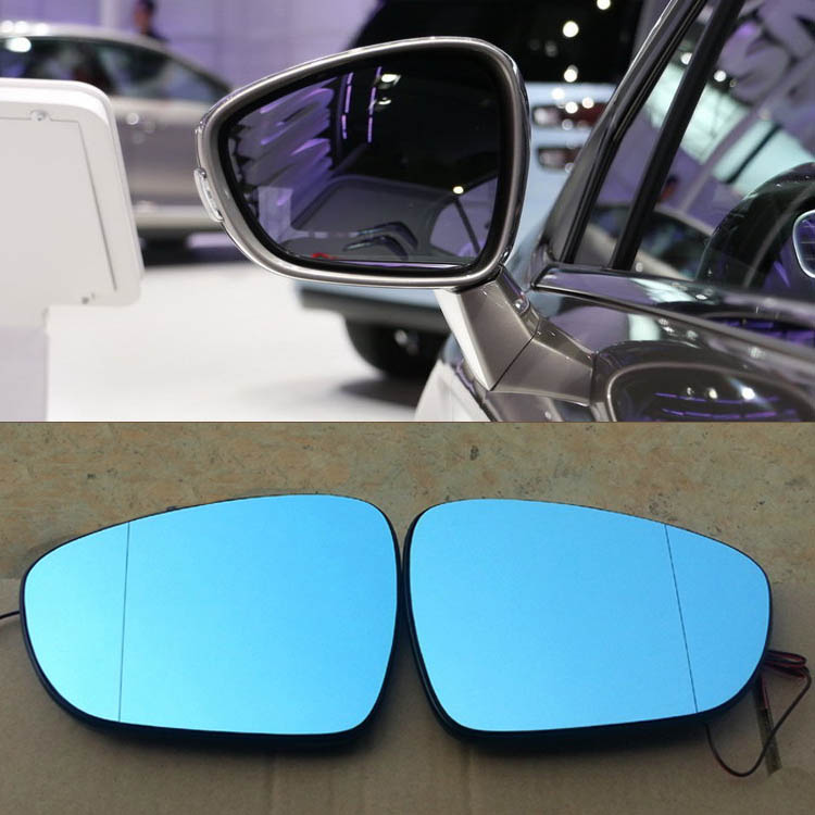 Ipoboo 2pcs New Power Heated w/Turn Signal Side View Mirror Blue Glasses For Citroen C4L