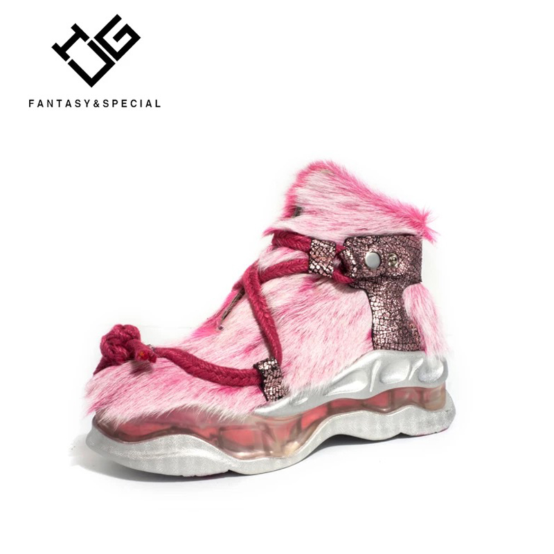 IGU женская обувь на плоской подошве из натуральной кожи в стиле хип хоп ремень высокие кроссовки для женщин световой Harajuku обувь в стиле панк