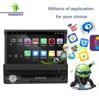 Gps навигации автомобиля MP5 игроков Зеркало Ссылка 7 дюймов выдвижной Сенсорный экран автомагнитолы DVD Bluetooth AM, FM Музыка Аудио вход WiFi