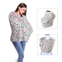 Baby Nursing Cover for Newborn Shopping Cart Cover Infant Cart Seat Canopy High Chair Cover Baby Gift Floral Breastfeeding Scarf
