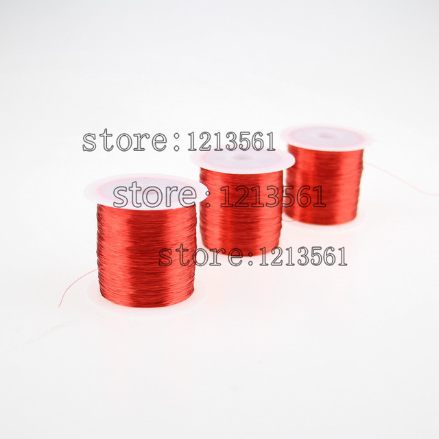 300m/pc Red Magnet Wire 0.2mm Enameled Copper wire Magnetic Coil ...