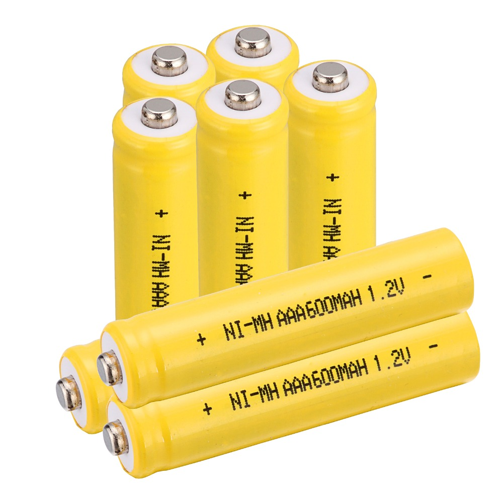 8 PCS A SET 600 mah AAA 3A 1.2 V Ni-MH rechargeable battery -Yellow