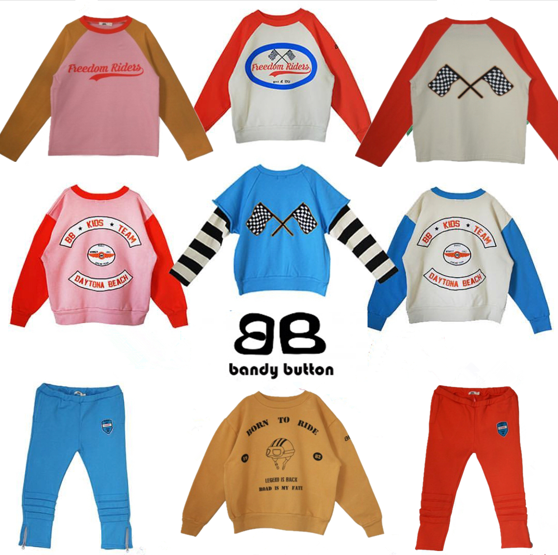 BBK Bandy Button 2018 new autumn winter racing driver boys and girls sweater T-shirt sports boys Long sleeve sweatshirt