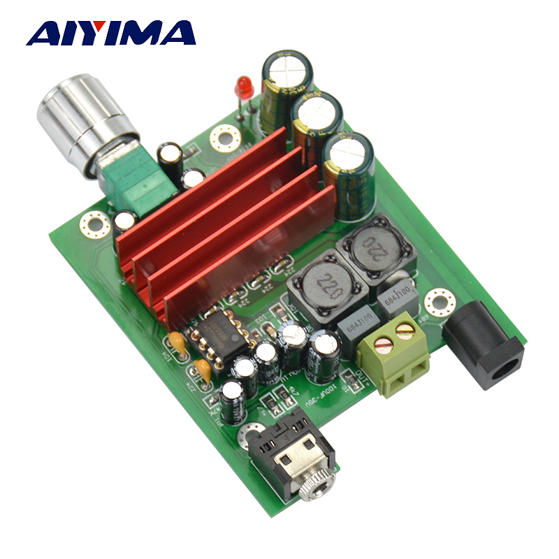 Aiyima TPA3116 100W Subwoofer Digital Power Amplifier Board TPA3116D2 Amplifiers NE5532 OPAMP 8-25V new arrival tpa3116d2 50wx2 100w 2 1 channel digital subwoofer amplifier board 12v 24v power free shipping