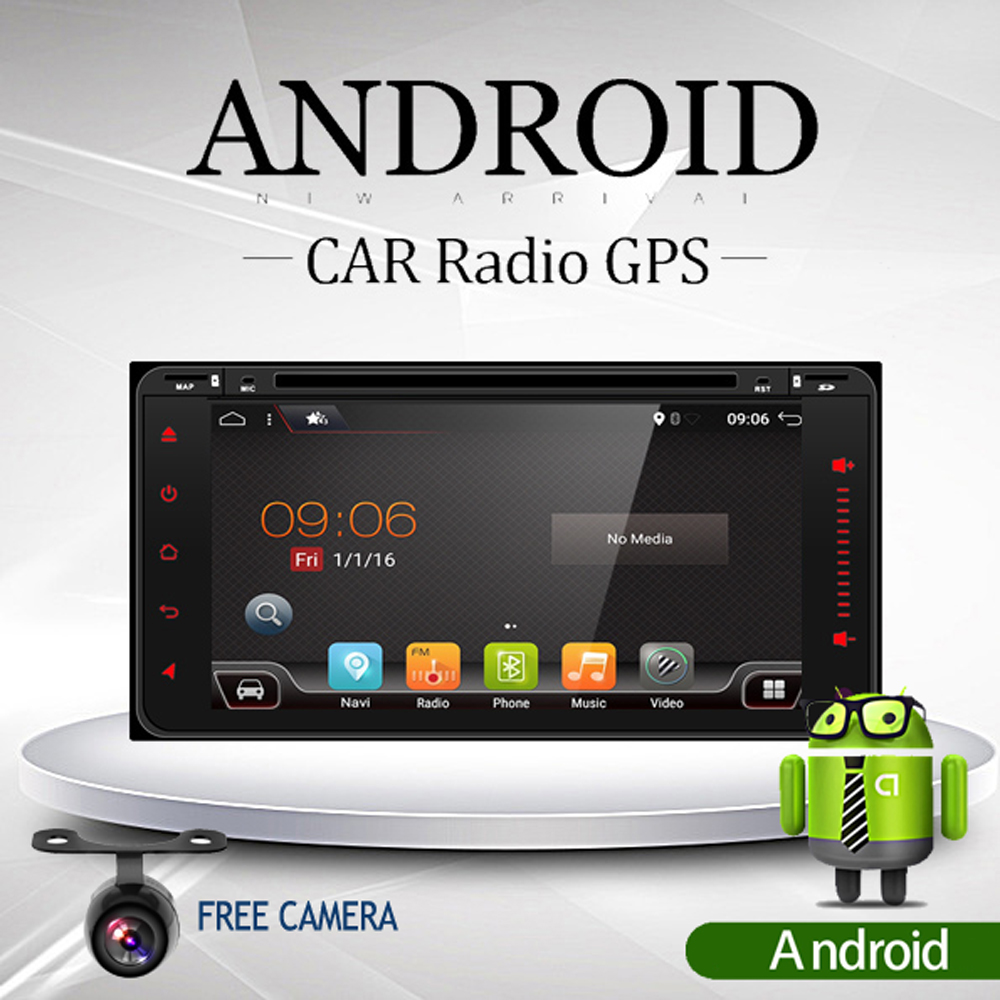 6.95 2Din 4 Core Android 6.0 Car Tap PC Tablet 2 Din Universal For Toyota 200*100 GPS Navigation BT Radio Stereo Audio Player