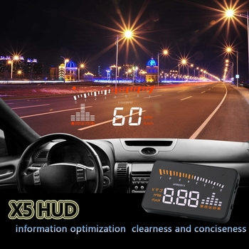 X5 HUD Head Up Display Car HUD Head Up Display Car Styling Speed Alarm OBD II Head-up Display OBD2 Interface car speed projector image