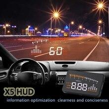 X5 HUD Head Up Show Automotive HUD Head Up Show Automotive Styling Pace Alarm OBD II Head-up Show OBD2 Interface automotive velocity projector