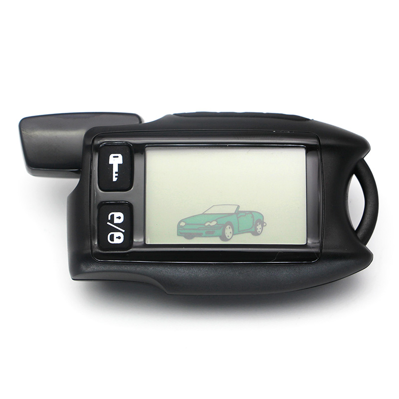 TW 9.5 LCD Controle Remoto Chave Fob para a Versão Russa Tomahawk 9.5 em dois sentidos do sistema de alarme de carro Tomahawk 9.9 Fob cadeia Chaveiro Alarme de assaltante     - title=