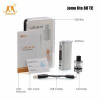 80w Vape Box Mod Kit 2600mAh Battery Electronic Cigarette 2ml 0.4ohm Atomizer Lite 80 Adjustable E Cig Kits Jomo 130 vape kits