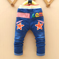Free shipping 2016 new style cartoon character children baby boy jeans pants,100% cotton casual cute kids baby pants