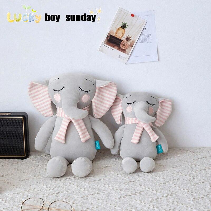 Lucky Boy Sunday Cute Elephant Kids Doll Soft Baby Appease Elephant Plush Toy Kids Birthday Gift african elephant