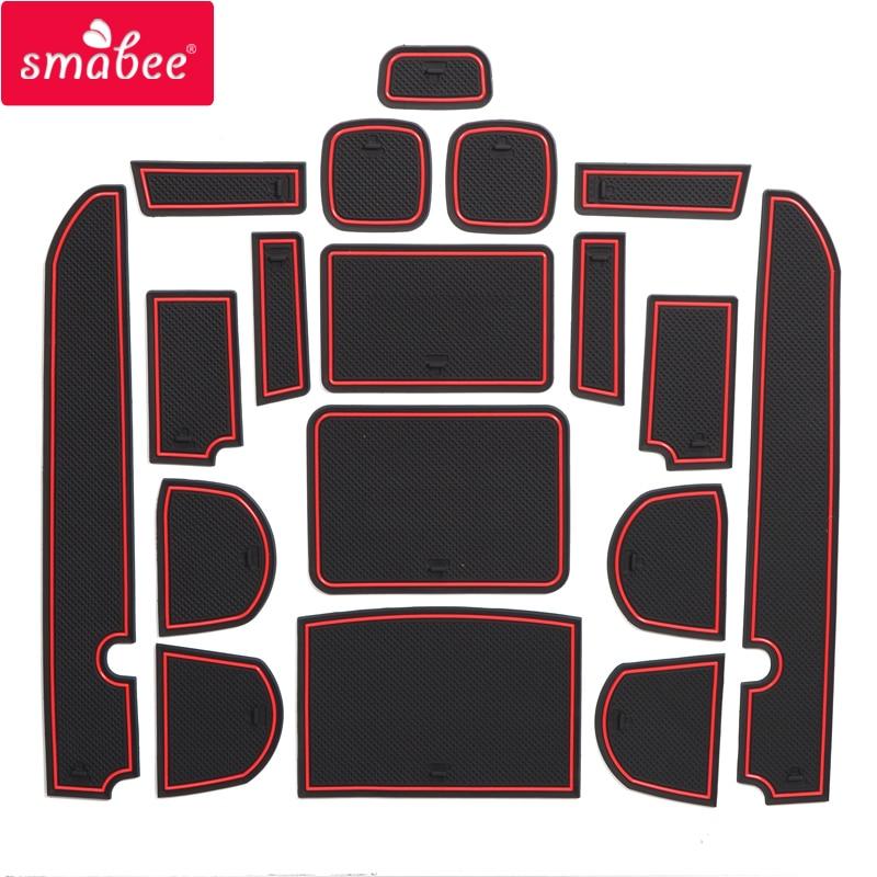 Smabee Gate Slot Pad For FOR NISSAN NAVARA D40 2008 - 2012 4DR 2009 2010 2011 Interior Door Pad/Cup Non-slip Mats 18pcs