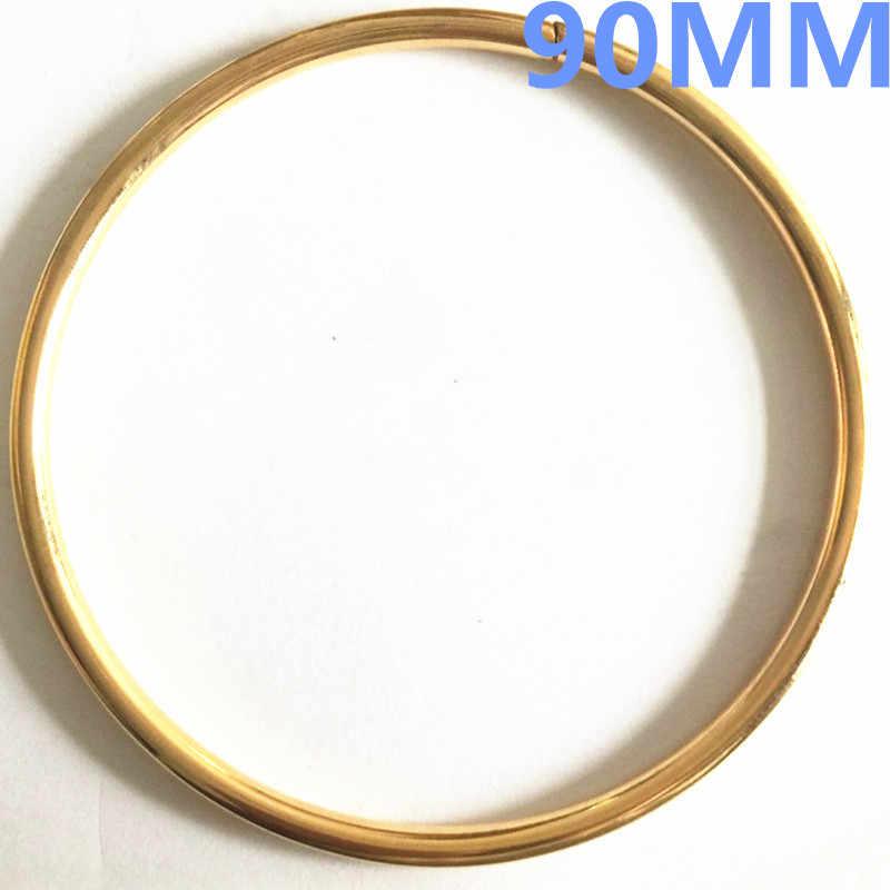 2 teile/los Große Runde 90mm O Ring 5mm dicke GOLD Überzogene Rucksack Kragen Harness Ring DIY handgemachte Tasche teile Zubehör