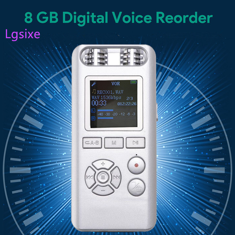 Digital Voice Activated Recorder by Lgsixe 8GB Sound Audio Recorder Dictaphone for Lectures Meetings, USB, Rechargeable